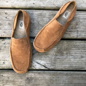 Brand new men's UGG chestnut slip on moccasins